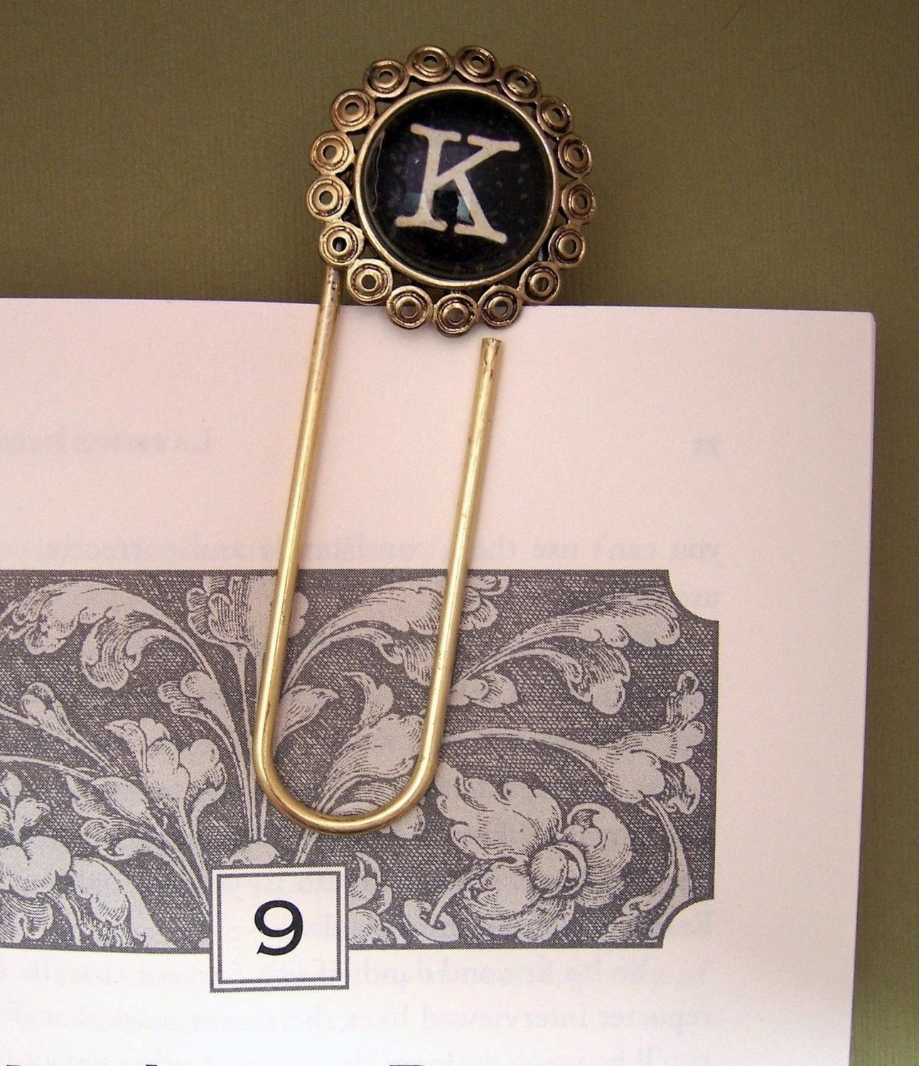 Custom Initial Clip or Bookmark by nhubs