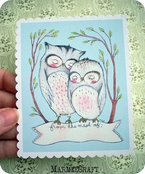 Little Owlets, Bookplates