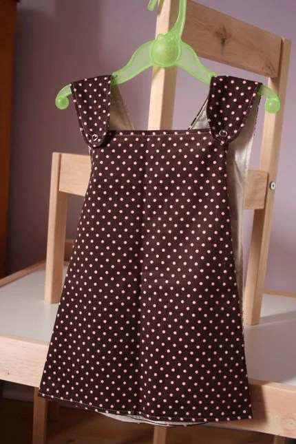 Pink Polka Dots Pinafore - 1 to 3 Years