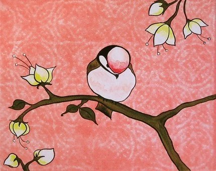 Chickadee Art by karingrow