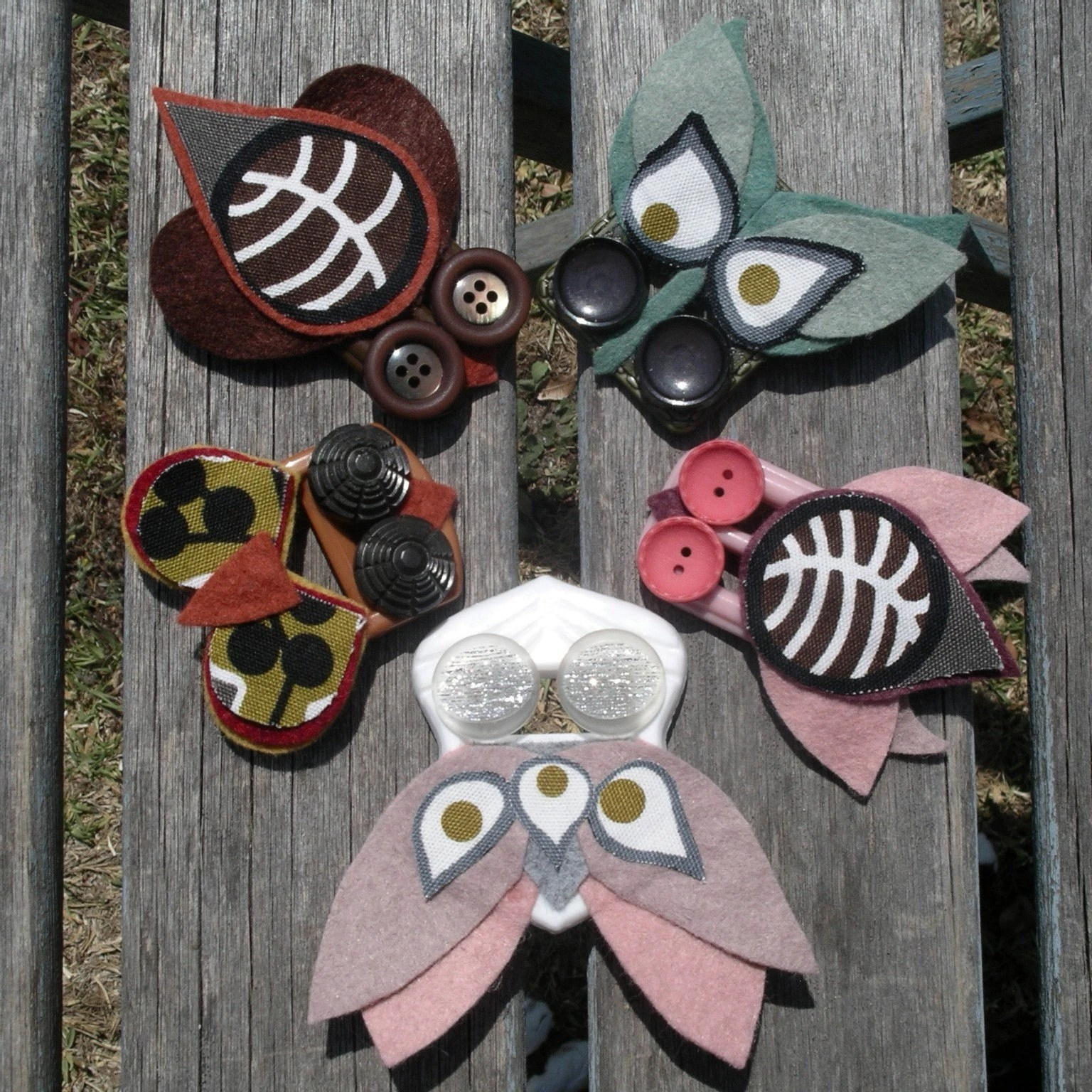 Buckle Bug Brooches