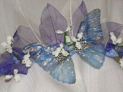 Blue butterfly Faerie/Fairy Crown - Adult - OOAK
