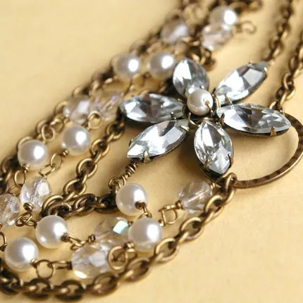 Glittering Blossom (crystal) necklace