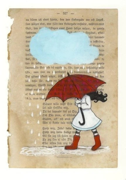 Carambatack Designs Red Umbrella Print