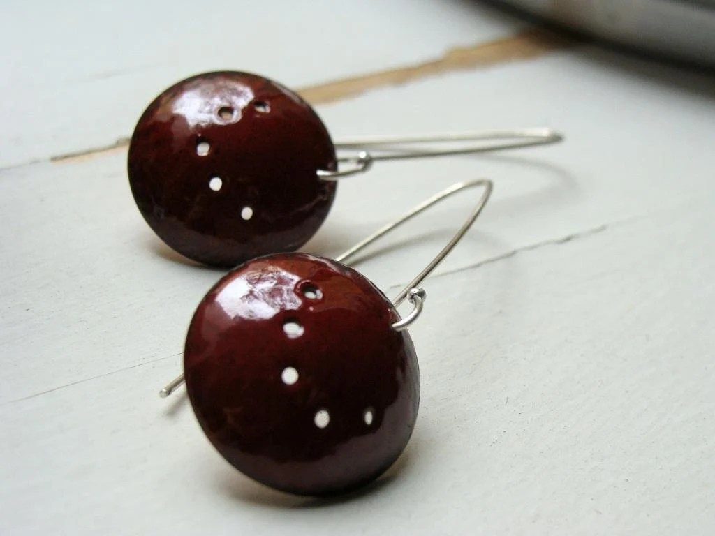 Colador Earrings - Bordeaux