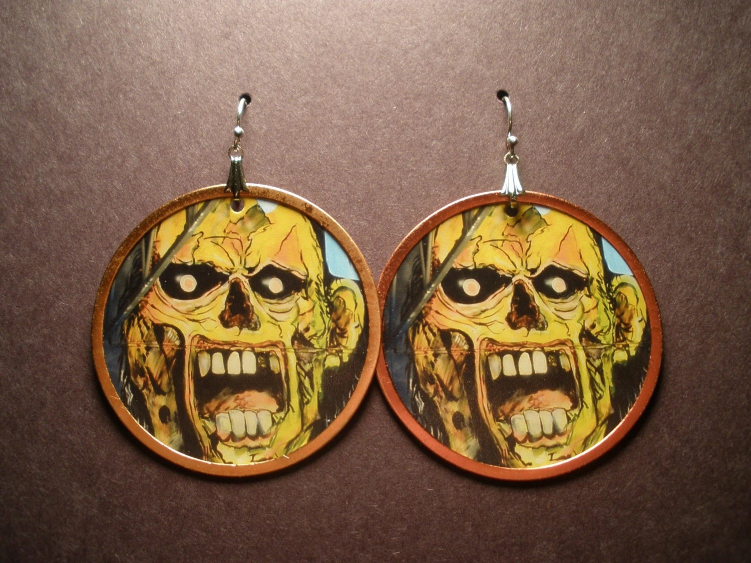 Zombie Attack! - Photo Earrings