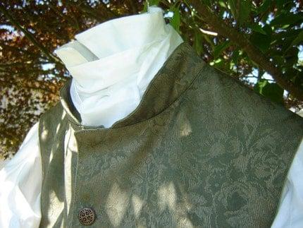 Men's regency style waistcoat