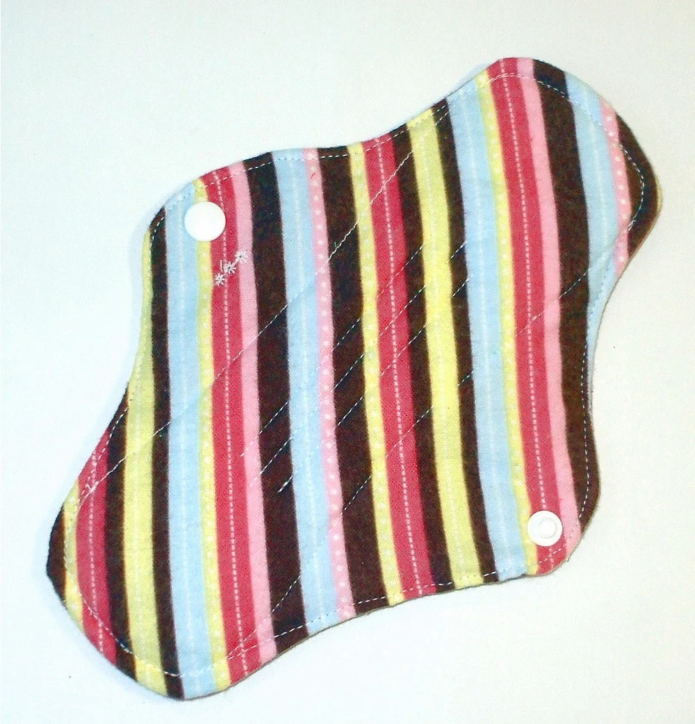 Pink Stripes Cloth Menstrual Pad for heavy flow