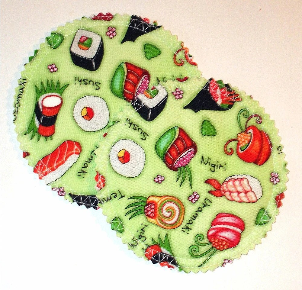 Sushi Cloth Nursing Pads with PUL