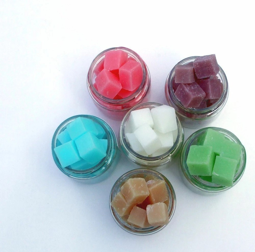 Soap Bits SAMPLER - Choose six of your favorite scents - natural cloth wipe cubes