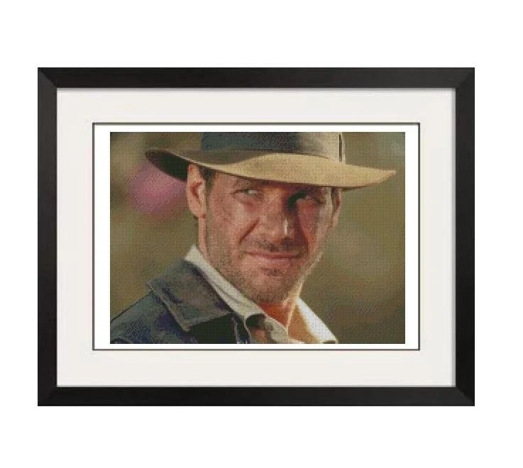 HARRISON FORD CROSS STITCH PATTERN - PDF FORMAT