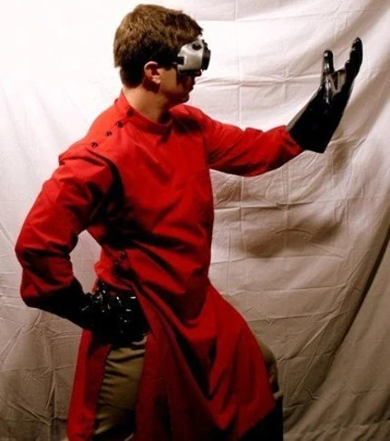 Dr. Horrible Howie Style Red Lab Coat Sm - Lg