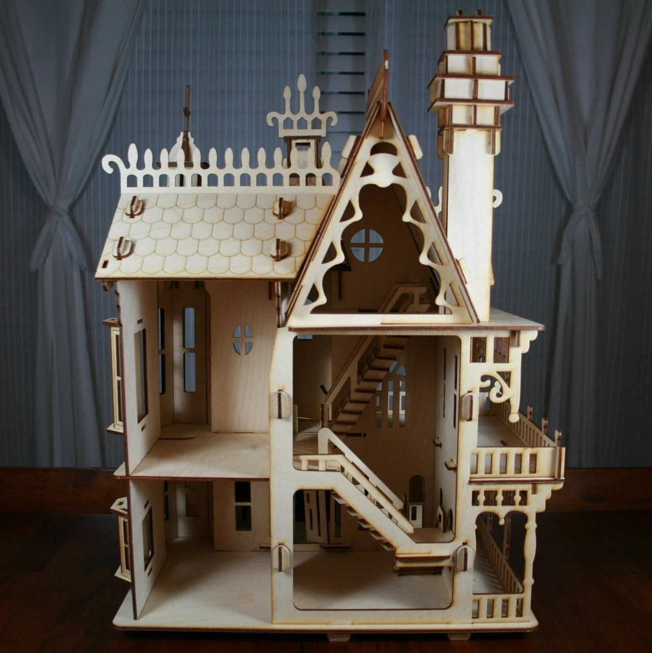 Victorian Doll House Birch plywood Laser Cut Kit 2