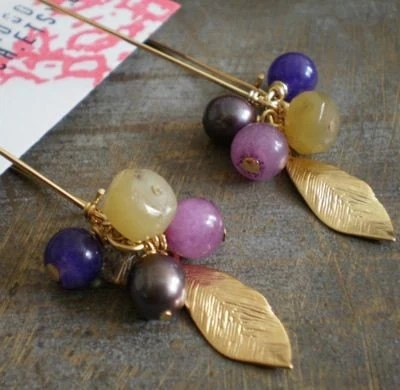 Clusters and Leaves Earrings SALE