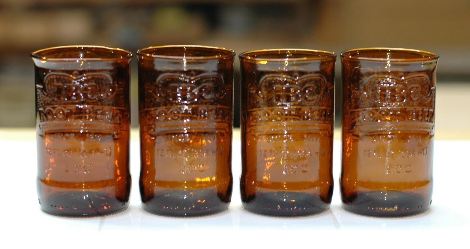 YAVA Glass - Recycled IBC Root Beer Glasses (Set of 4)