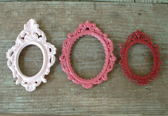 Trio of Vintage Baroque Oval Frames - Updated