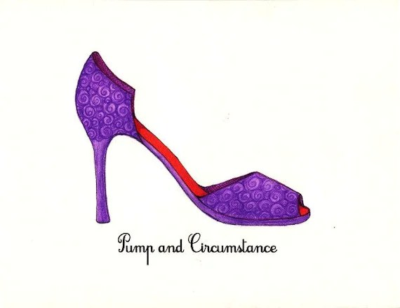 Pump and Circumstance Shoe Fashion Illustration
