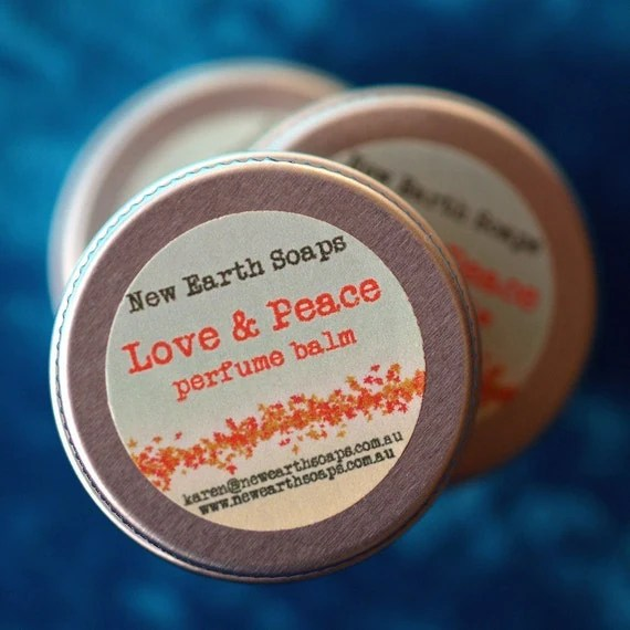 Love and Peace Perfume Balm by New Earth Soaps