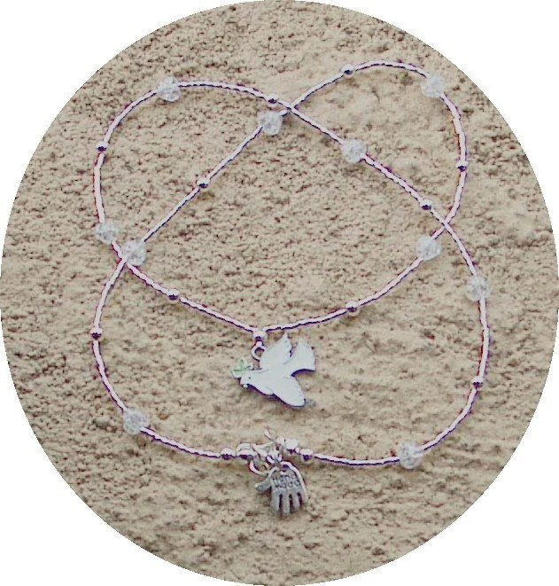 Dove and Peace Necklace