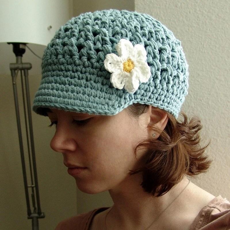PDF Crochet Pattern - Ladies Breezy Brimmed Beanie