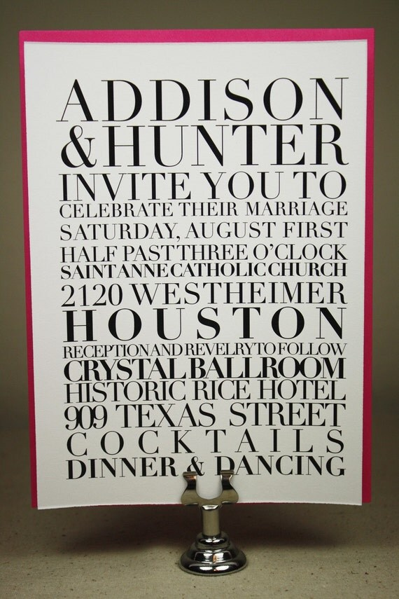 Typography Poster Invitation