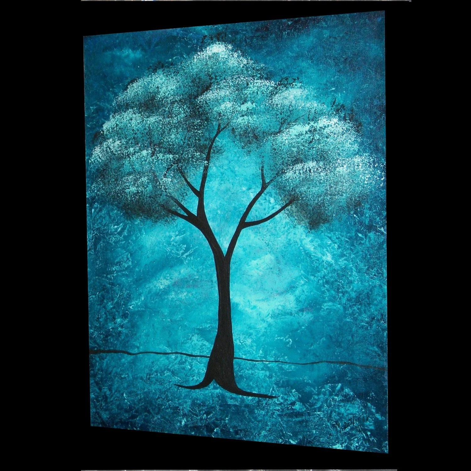 48 Hour - 50% Off SALE - Original Abstract Tree Painting -- The Spirit Within