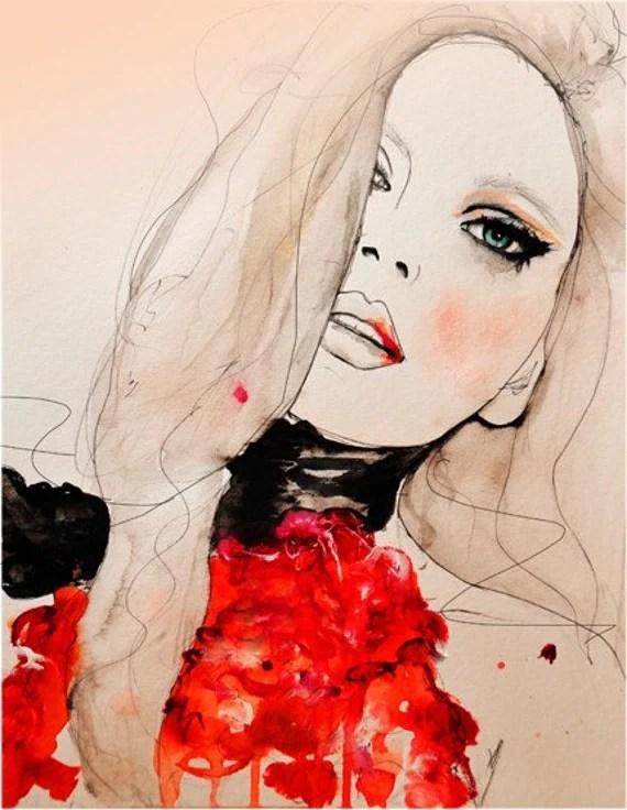 Ruby- Gucci F/W 11  - Art Print