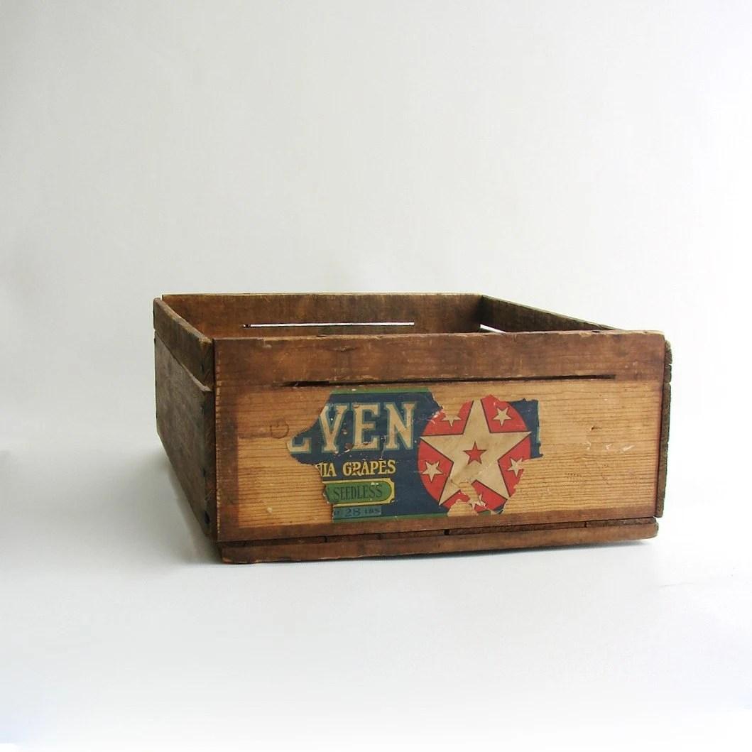 Vintage Wood Fruit Crate