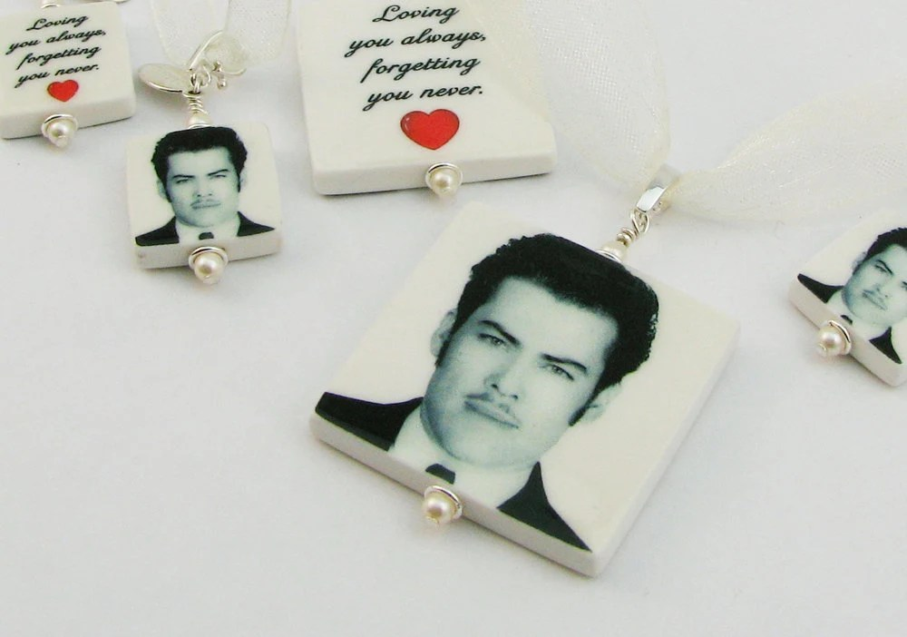 Bridal Bouquet Memorial Photo Charms for your Family