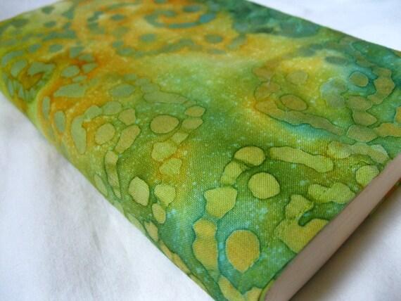 Fabric Book Cover-- Trade Paperback Batik 17