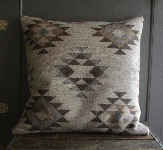 handmade pendleton wool pillow cover