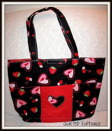 Strawberry Heart Totebag