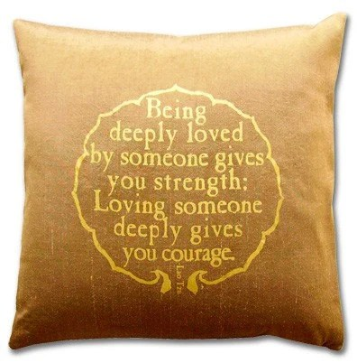 Being Deeply Loved Pillow, silk