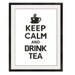 KEEP CALM AND DRINK TEA - CROSS STITCH PATTERN - PDF FORMAT