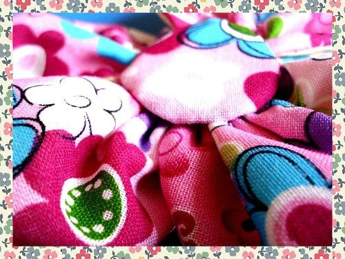 Pastel, Hot and Fuchia Pink Floral Print Fabric Flower for Accessorizing or Embellishments