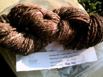 Black Forest Truffle Handspun Wool Yarn