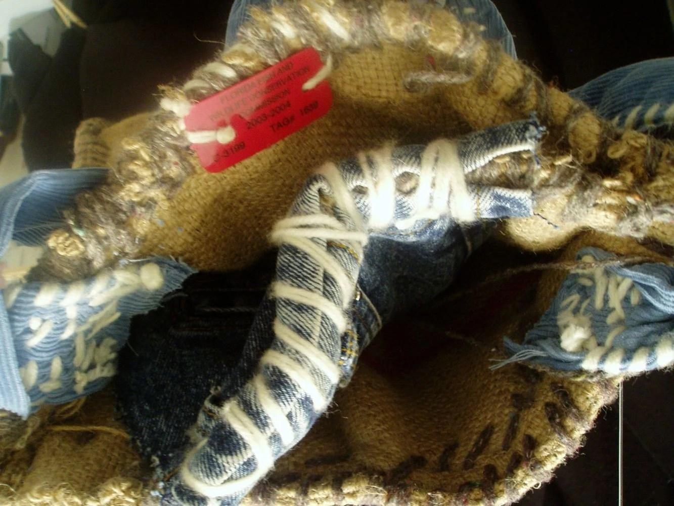 Burlap  Handbag Handemade Reuse