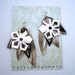 SALE Metallic Tri Leather Earrings