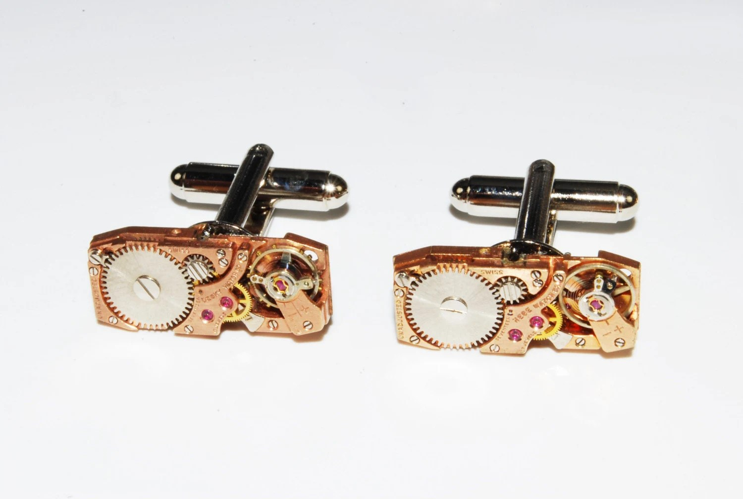 Rose Gold Package rare movement cuff link