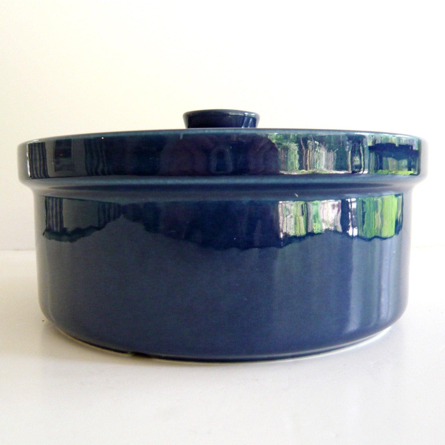 Vintage Blue Pottery Casserole