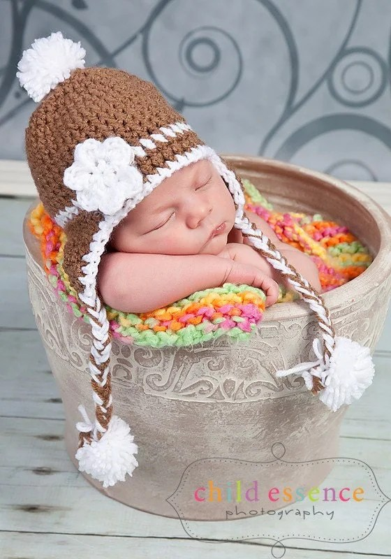 Baby hat for photo prop
