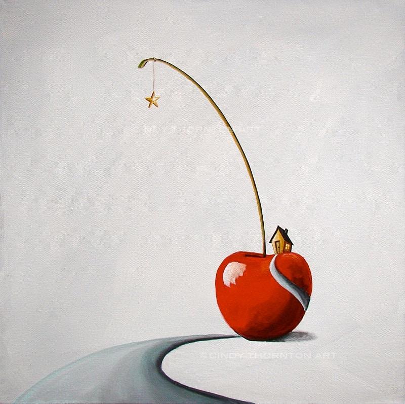 Little House on the Cherry - Cindy Thornton Art
