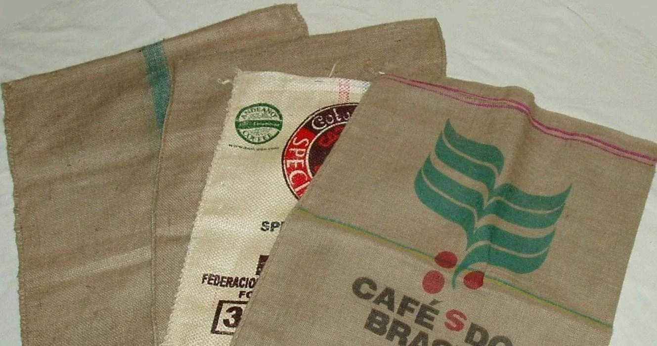 25 Burlap Coffee Bean Bag Lot - Free Shipping