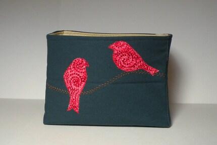Medium basket - birds