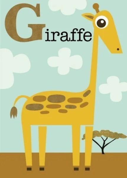 Letter G (giraffe)