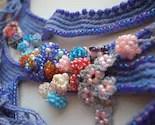 Locus Amoenus ... Freeform Beaded Crochet Necklace - Flowers