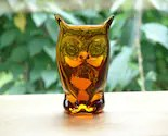 Vintage Art Glass Little Brown Owl