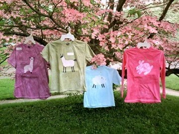 CUSTOM Batik Fiber Animal tshirts Sheep Llama Alpaca Goat or Bunny YOU PICK color and size