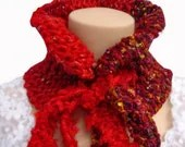 Garnet Red Neckwarmer Free World Wide Shipphing