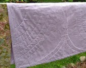 organic baby and toddler bedding quilt / modern lavender amethyst (last one)